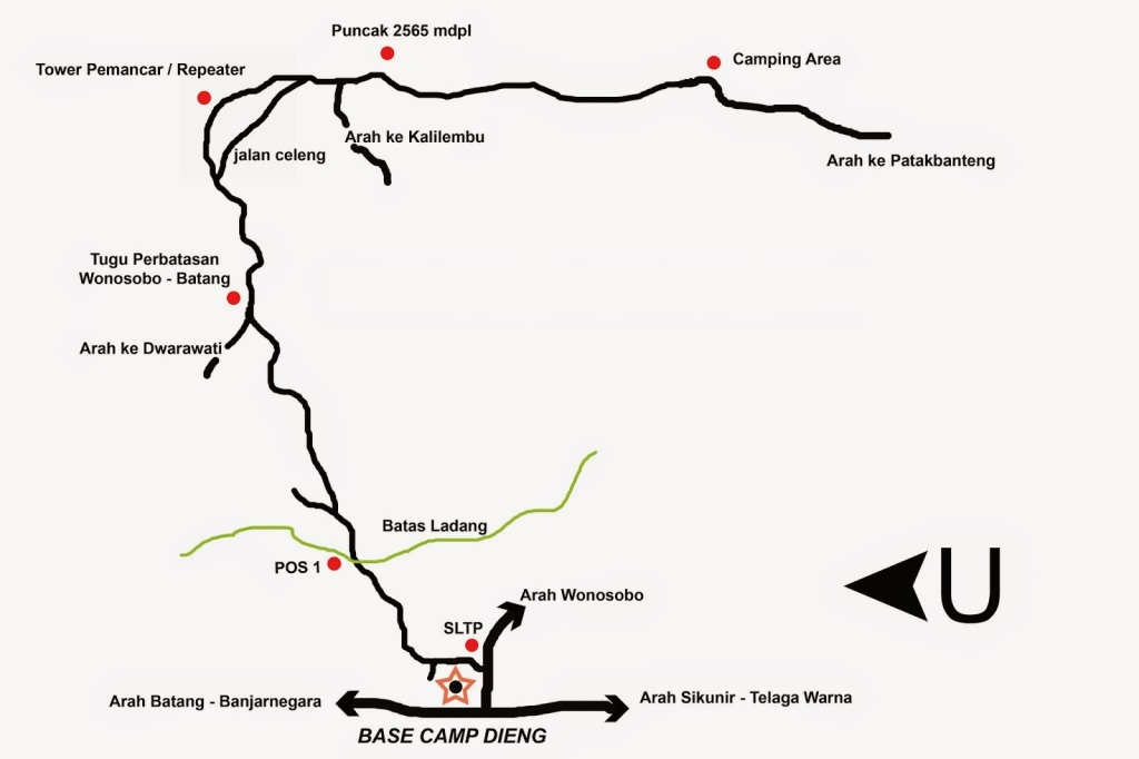 Jalur Pendakian Gunung Prau