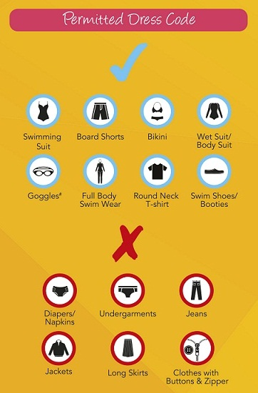 Dress Code dari Adventure Cove Waterpark