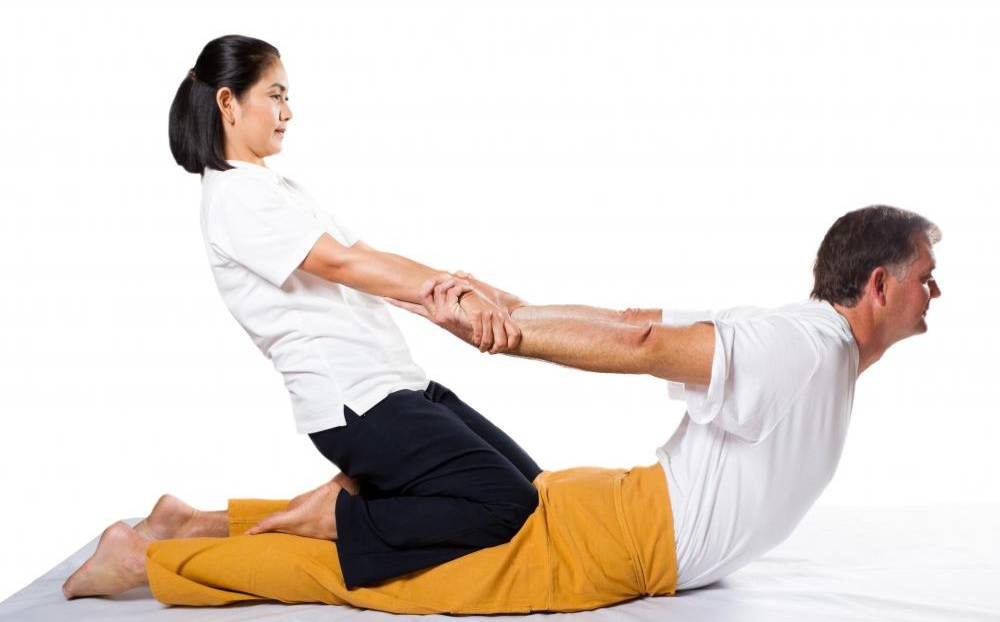 Posisi pijatan Thai Massage