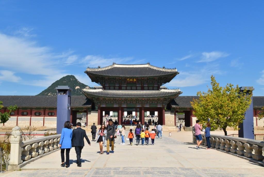 Pintu masuk Gyeongbokgung Palace