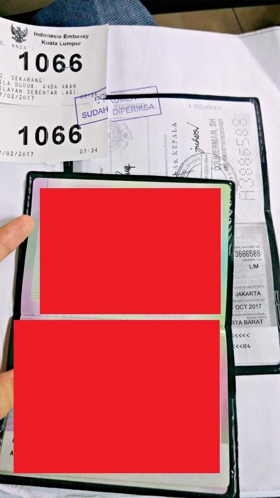 Nomor antrian setelah pengecekan dokumen